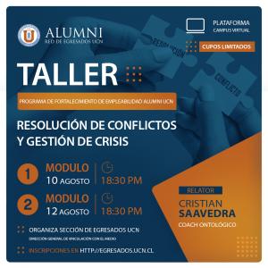 Taller Resolución de Conflictos y Gestión de Crisis @ Plataforma UCN Virtual